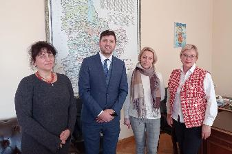 Working meeting of the Head of the State Archival Service of Ukraine Anatolii Khromov with the Deputy Head of the Kyiv Regional State Administration Tetyana Shcherbak